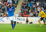 St Johnstone v FC Minsk...08.08.13 Europa League Qualifier<br /> Nigel Hasselbaink holds his head after shooting wide<br /> Picture by Graeme Hart.<br /> Copyright Perthshire Picture Agency<br /> Tel: 01738 623350  Mobile: 07990 594431