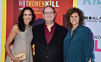 """BEVERLY HILLS, CA - AUGUST 07: (L-R) Francie Calfo, Marc Cherry and Mindy Schultheis attend the LA Premiere of CBS All Access' """"Why Women Kill"""" at Wallis Annenberg Center for the Performing Arts on August 07, 2019 in Beverly Hills, California.<br /> CAP/ROT<br /> ©ROT/Capital Pictures"""