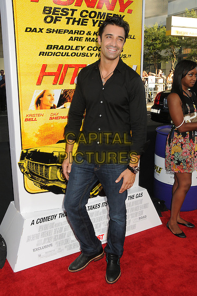 "Gilles Marini.""Hit and Run"" Los Angeles Premiere held at Regal Cinemas L.A. Live, Los Angeles, California, USA..August 14th, 2012.full length black shirt jeans denim .CAP/ADM/BP.©Byron Purvis/AdMedia/Capital Pictures."