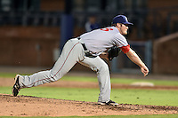 Hagerstown Suns pitcher Robbie Dickey #23 delivers a pitch during a game against the Asheville Tourists at McCormick Field September 8, 2014 in Asheville, North Carolina. The Tourists defeated the Suns 16-7. (Tony Farlow/Four Seam Images)