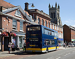 Konect bus in the town centre of East Dereham, Norfolk, England