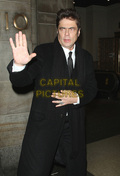 NEW YORK, NY - JANUARY 5: Benicio Del Toro at the National Board Of Review Gala Honoring The 2015 Award Winners at Cipriani in New York City on January 5, 2016. <br /> CAP/MPI/RW<br /> &copy;RW/MPI/Capital Pictures