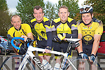 WEST KERRY CHALLENGE: The member's of Currow Cycling team who took part in the Chain Gang Challenge at the CBS the Green, Tralee on Saturday l-r: Stuart Newens, Kieran O'Connor, Adrian O'Connell and Brendan O'Keeffe..