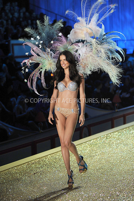 WWW.ACEPIXS.COM . . . . .....November 10 2010, New York City....Adriana Lima wearing the $2 million fantasy bra by Damiani  walks the runway during the 2010 Victoria's Secret Fashion Show at the Lexington Armory on November 10, 2010 in New York City.  ....Please byline: KRISTIN CALLAHAN - ACEPIXS.COM.. . . . . . ..Ace Pictures, Inc:  ..(212) 243-8787 or (646) 679 0430..e-mail: picturedesk@acepixs.com..web: http://www.acepixs.com