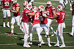 Wisconsin Badgers special teams celebrate during an NCAA College Football game against the Florida Atlantic Owls Saturday, September 9, 2017, in Madison, Wis. The Badgers won 31-14. (Photo by David Stluka)