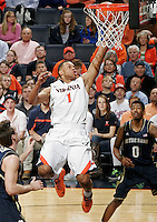 Virginia guard Justin Anderson (1) shoots during the game Saturday, February 22, 2014,  in Charlottesville, VA. Virginia won 70-49.
