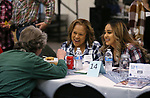 "Susan Paslov, left, talks with scholarship recipient Mariana Chavez, right, and her mom Ninfa at the ""We Are Western"" event hosted by the Western Nevada College Foundation, in Carson City, Nev., on Friday, March 8, 2019. <br /> Photo by Cathleen Allison/Nevada Momentum"