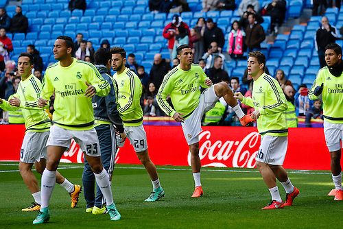 05.03.2016.  Madrid, Spain.  Cristiano Ronaldo dos Santos (7) Real Madrid during warm up. La Liga between Real Madrid versus Celta de Vigo at the Santiago Bernabeu stadium in Madrid, Spain