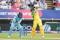 Steve Smith (Australia) push drives into the covers during Australia vs England, ICC World Cup Semi-Final Cricket at Edgbaston Stadium on 11th July 2019