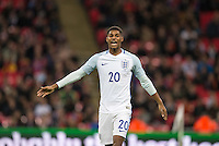 Marcus Rashford (Manchester United) of England during the International Friendly match between England and Spain at Wembley Stadium, London, England on 15 November 2016. Photo by Andy Rowland.