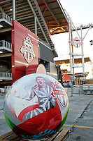 Toronto, ON, Canada - Saturday Dec. 10, 2016: Ball prior to the MLS Cup finals at BMO Field. The Seattle Sounders FC defeated Toronto FC on penalty kicks after playing a scoreless game.