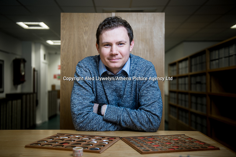 Tuesday 28 February 2017<br /> Pictured: Chris Barker, the assistant curator at the Royal Mint Museum<br /> Re: The Royal Mint in Llantrisant is producing the new one pound coin