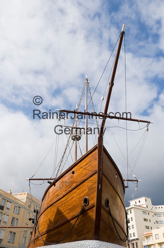 Spain, Canary Islands, La Palma, Santa Cruz de La Palma: capital - Barco de la Virgen (Virgin's ship), copy of Christoph Columbus' Santa Maria