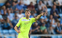 Goalscorer Chris Porter of Colchester United during the Sky Bet League 2 match between Wycombe Wanderers and Colchester United at Adams Park, High Wycombe, England on 27 August 2016. Photo by Andy Rowland.