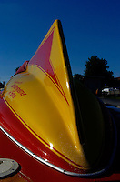 """Rear tail-fin on the (Ron) Jones built 7 litre hydroplane """"Tool Crib Special""""."""
