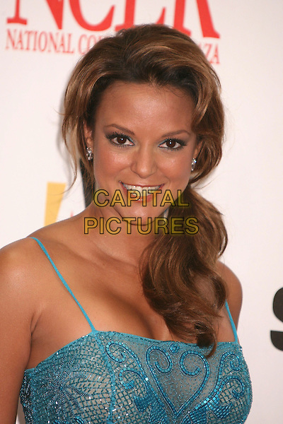 EVA LaRUE .2007 NCLR ALMA Awards at the Pasadena Civic Center, Pasadena, California, USA..June 1st, 2007.headshot portrait blue turquoise gown see through thru.CAP/ADM/BP.©Byron Purvis/AdMedia/Capital Pictures