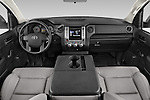 Stock photo of straight dashboard view of a 2015 Toyota Tundra 5.7 Auto SR Regular Cab 2 Door Truck Dashboard