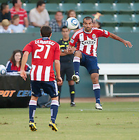 CARSON, CA – SEPTEMBER 19: Chivas USA midfielder Rodolfo Espinoza (24) during a soccer match at Home Depot Center, September 19, 2010 in Carson California. Final score Chivas USA 0, Kansas City Wizards 2.