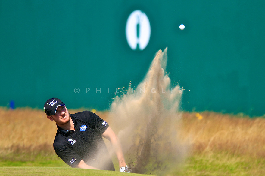Chris WOOD (ENG) in action during the first round of  The 143rd Open Championship played at Royal Liverpool Golf Club, Hoylake, Wirral, England. 17 - 20 July 2014 (Picture Credit / Phil Inglis)