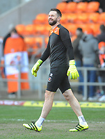 Blackpool's Mark Howard during the pre-match warm-up <br /> <br /> Photographer Kevin Barnes/CameraSport<br /> <br /> The EFL Sky Bet League One - Blackpool v Southend United - Saturday 9th March 2019 - Bloomfield Road - Blackpool<br /> <br /> World Copyright © 2019 CameraSport. All rights reserved. 43 Linden Ave. Countesthorpe. Leicester. England. LE8 5PG - Tel: +44 (0) 116 277 4147 - admin@camerasport.com - www.camerasport.com