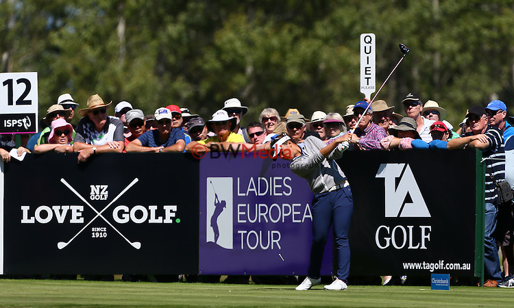 Lydia Ko of New Zealand. ISPS Handa NZ Woman's Golf Open Round One, Clearwater Golf Resort, Christchurch, New Zeland. Friday 27th February 2015. Photo: Simon Watts/www.bwmedia.co.nz <br /> All images &copy; NZ Golf and BWMedia.co.nz New Zealand Golf Images:<br />