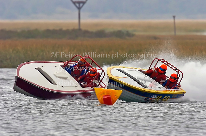 """Bill Pierce & Keith McMullen,JS-25  and JS-58 """"Bound For Glory""""  (Jersey Speed Skiff(s)"""