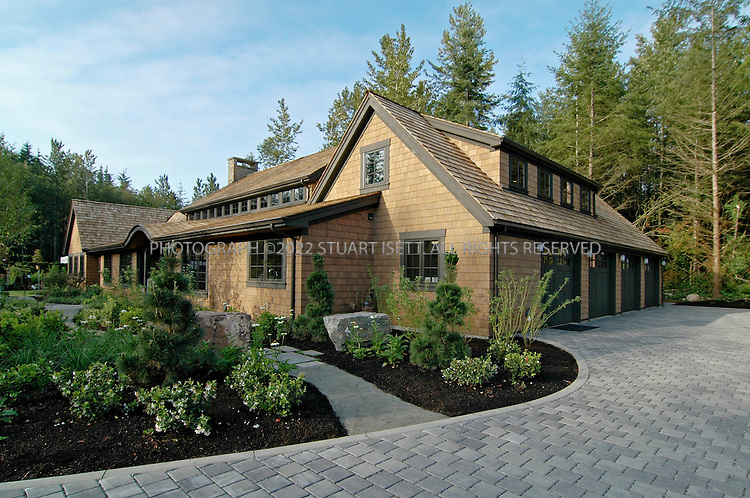 """3/3/2008 -- Woodinville, Snohomish County, WA, USA.FILE PHOTO: One of the homes owned by CMI Homes, based in Bellevue, that was destroyed uy arson. Three multi-million-dollar homes were destroyed by arson in an apparent act of domestic terrorism and that also damaged two others in the Maltby area of Snohomish County, east of Seattle, Wash. Near the burned homes, a spray-painted sign with the initials of the Earth Liberation Front was found. Local TV news showed the sign that read: """"Built Green? Nope black! McMansions in RCDs r not green. ELF""""..The homes were all unoccupied and were part of Seattle 'Street of Dreams' homes in the Quinn's Crossing development near Highway 522. The homes that burned were between 4,200 and 4,750 square feet in size, with prices up to nearly $2 million. The homes were built to be environmentally friendly an dused high-efficiency insulation and recycled materials...©2008 Stuart Isett. All rights reserved."""