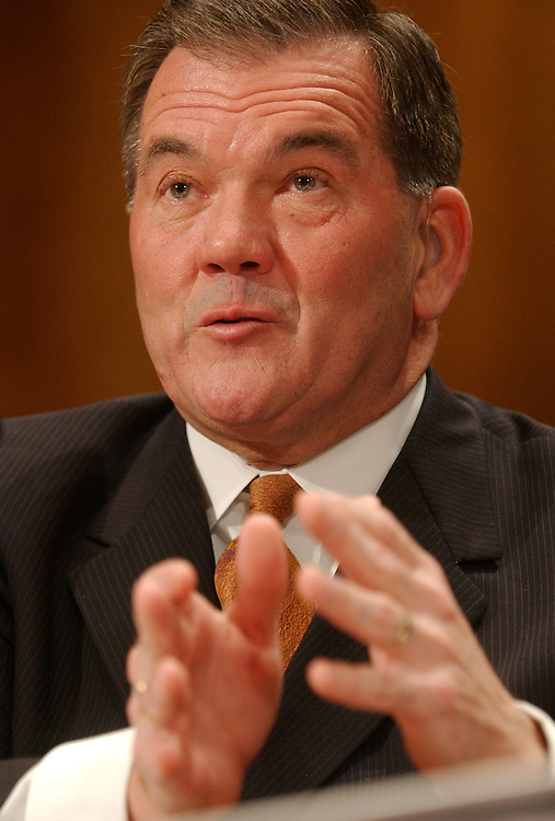 Director of Homeland Security Tom Ridge, testifies before a Senate Government Affairs Committee, Full Committee hearing on FY2005 budget for Homeland Security Department.