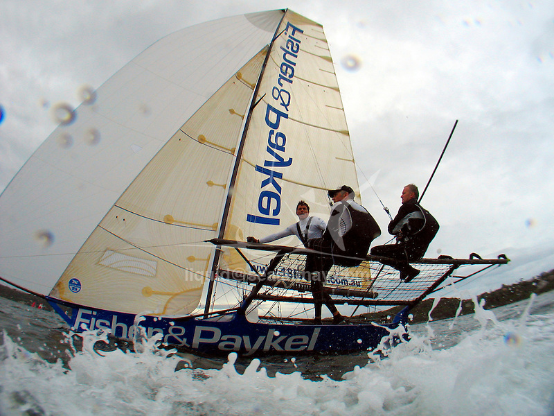 Day three of the JJ Giltinan 18 Ft Skiff championship 2009 in the Sydney Harbour.