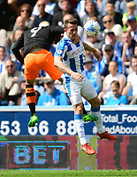 Sheffield Wednesday's Adam Reach vies for possession with Huddersfield Town's Jonathan Hogg<br /> <br /> Photographer Chris Vaughan/CameraSport<br /> <br /> The EFL Sky Bet Championship Play-Off Semi Final First Leg - Huddersfield Town v Sheffield Wednesday - Saturday 13th May 2017 - The John Smith's Stadium - Huddersfield<br /> <br /> World Copyright &copy; 2017 CameraSport. All rights reserved. 43 Linden Ave. Countesthorpe. Leicester. England. LE8 5PG - Tel: +44 (0) 116 277 4147 - admin@camerasport.com - www.camerasport.com