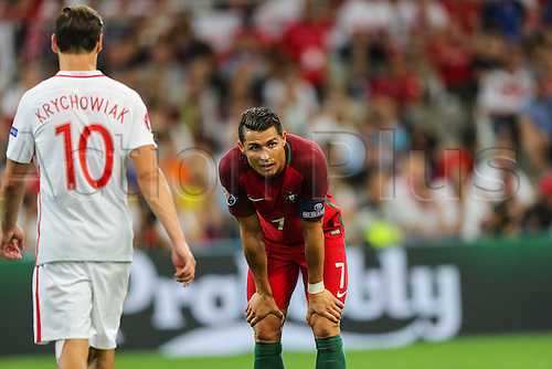 30.06.2016. Marseille, France. UEFA EURO 2016 quarter final match between Poland and Portugal at the Stade Velodrome in Marseille, France, 30 June 2016.   Cristiano Ronaldo (POR), Grzegorz Krychowiak (POL)