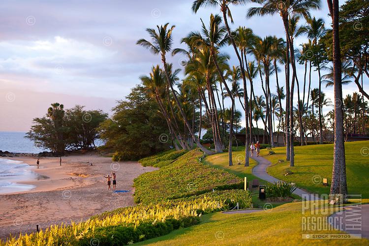Scenic Wailea Coastal Walk along Maui's south shore resort area