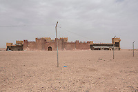 Morocco - Ouarzazate - A prop castle within CLA Studios, in Ouarzazate. The castle was used in several well-known movies and TV series, including Game of Thrones, Rydley Scott's Kingdom of Heaven and The New Adventures of Aladin.