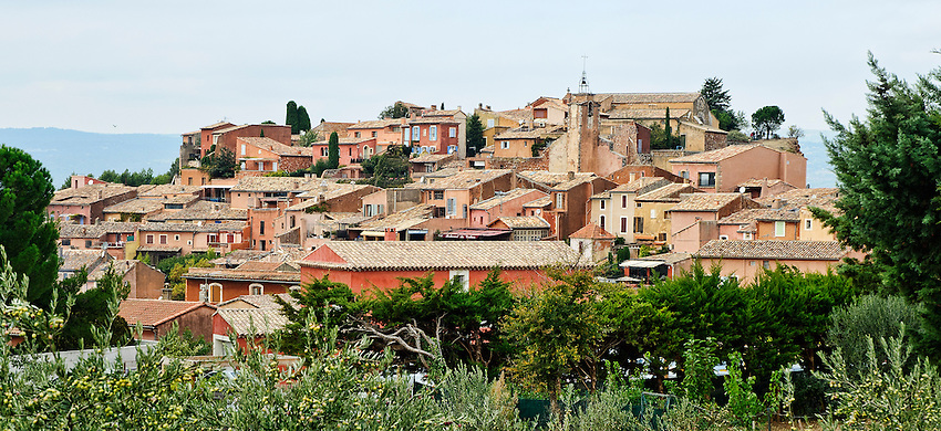 Roussillon viewed from the closest part of the cemetery
