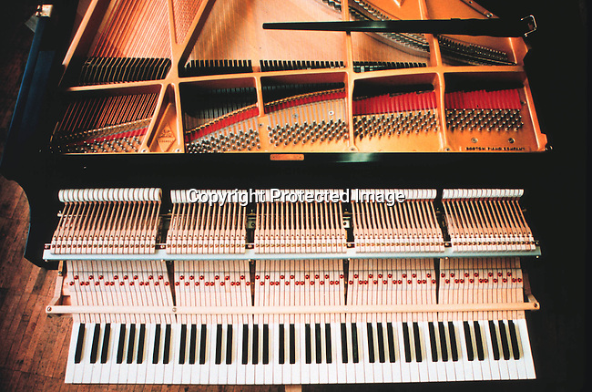 dimuinst00001 Musical instruments. Piano in the Steinway factory. Notes..©Per-Anders Petterson/iAfrika Photos