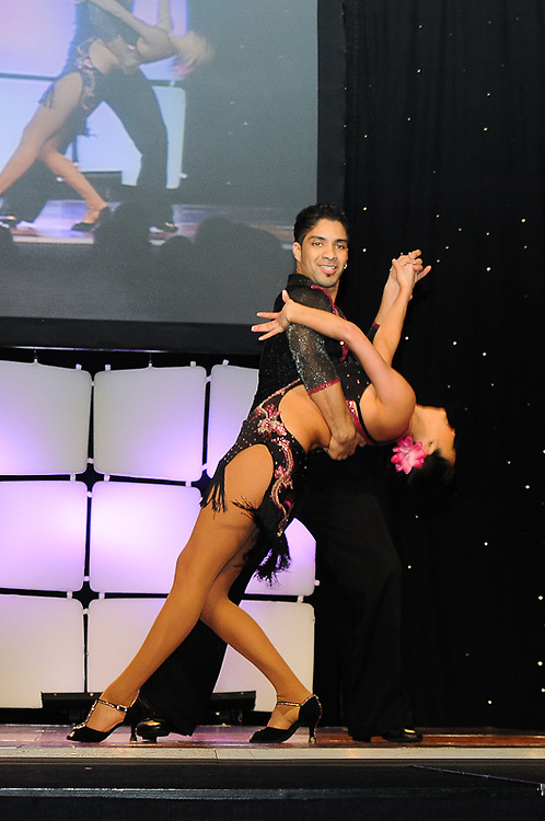 Latin Salsa stage dance in Washington DC.  Professional Image Event Photography by John Drew