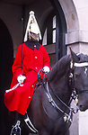 ATBK7D Black male horseguard Whitehall London England