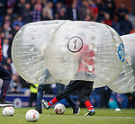 Half time bubble soccer
