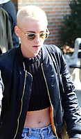 www.acepixs.com<br /> <br /> March 9 2017, New York City<br /> <br /> Actress Kristen Stewart sports close cropped hair and a bare tummy as she leaves a downtown hotel on March 9 2017 in New York City<br /> <br /> By Line: Zelig Shaul/ACE Pictures<br /> <br /> <br /> ACE Pictures Inc<br /> Tel: 6467670430<br /> Email: info@acepixs.com<br /> www.acepixs.com