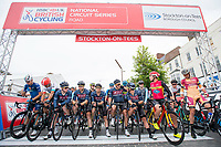 Picture by Allan McKenzie/SWpix.com - 14/07/17 - Cycling - HSBC UK British Cycling National Circuit Series - Velo29 Altura Criterium - Stockton, England - The riders prepare to roll out.