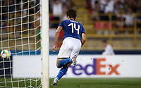Football: Uefa European under 21 Championship 2019, Italy - Spain Renato Dall'Ara stadium Bologna Italy on June16, 2019.<br /> Italy's Federico Chiesa celebrates after scoring his second goal in theUefa European under 21 Championship 2019 football match between Italy and Spain at Renato Dall'Ara stadium in Bologna, Italy on June16, 2019.<br /> UPDATE IMAGES PRESS/Isabella Bonotto