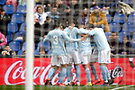 Celta de Vigo's team celebrate goal  during La Liga match. February 09,2019. (ALTERPHOTOS/Alconada)