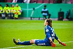 01.05.2019, RheinEnergie Stadion , Köln, GER, DFB Pokalfinale der Frauen, VfL Wolfsburg vs SC Freiburg, DFB REGULATIONS PROHIBIT ANY USE OF PHOTOGRAPHS AS IMAGE SEQUENCES AND/OR QUASI-VIDEO<br /> <br /> im Bild | picture shows:<br /> Lena Nuding (SC Freiburg Frauen #32) enttäuscht nach der Niederlage im Pokalfinale, <br /> <br /> Foto © nordphoto / Rauch