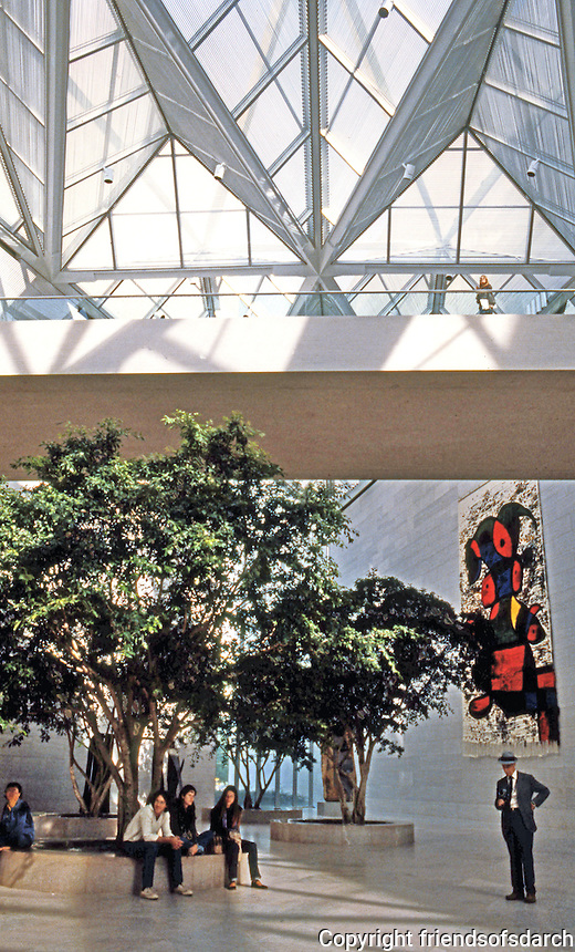 I.M. Pei: Washington D.C. National Gallery, East Interior--Miro.