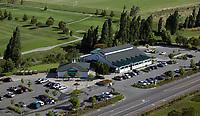 aerial photograph the Rooster Run Golf Club club house, Petaluma, Sonoma County, California