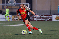 Rochester, NY - Friday June 24, 2016: Western New York Flash forward Adriana Leon (19) during a regular season National Women's Soccer League (NWSL) match between the Western New York Flash and the Boston Breakers at Rochester Rhinos Stadium.