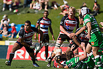 Samisoni Fisilau clears the ball from a midfield ruck. Air New Zealand Cup rugby game between the Counties Manukau Steelers & Manawatu Turbos, played at Growers Stadium Pukekohe on Staurday September 20th 2008..Counties Manukau won 27 - 14 after trailing 14 - 7 at halftime.