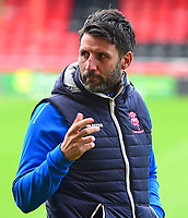 Lincoln City manager Danny Cowley during the pre-match warm-up<br /> <br /> Photographer Andrew Vaughan/CameraSport<br /> <br /> The EFL Sky Bet League Two - Crewe Alexandra v Lincoln City - Saturday 11th November 2017 - Alexandra Stadium - Crewe<br /> <br /> World Copyright &copy; 2017 CameraSport. All rights reserved. 43 Linden Ave. Countesthorpe. Leicester. England. LE8 5PG - Tel: +44 (0) 116 277 4147 - admin@camerasport.com - www.camerasport.com