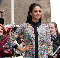 Britain's Got Talent in Edinburgh. Pictured Alesha Dixon..Picture: Pavol Mraz/Universal News And Sport (Scotland). 11/ February 2012.
