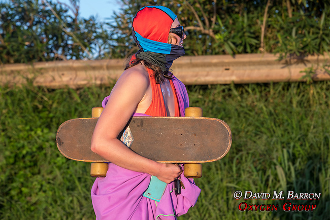 Spectators With Skateboard At Papua Gulch